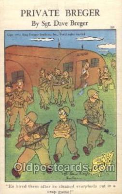 mil001851 - Sgt. Dave Breger Military Private Breger Postcard Postcards
