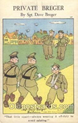 mil001855 - Sgt. Dave Breger Military Private Breger Postcard Postcards