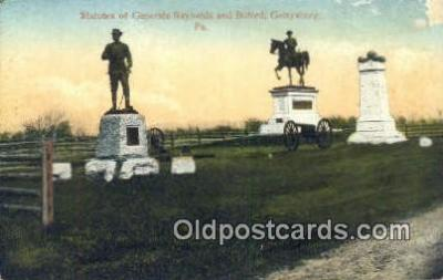 Statues Of Generals Reynolds and Butford, Gettysburg, Pennsylvania, PA USA