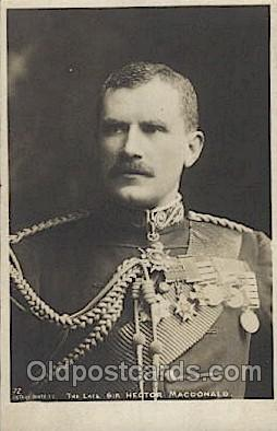 mil007038 - Sir Hector Macdonald Military Postcard Postcards