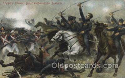 mil007172 - Theodor Korners Gebet Wabrend der Schlacht Military Postcard Postcards