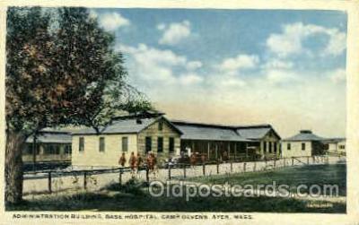 mil007335 - Base hospital camp devens ayer, Massachusetts, USA Military Postcard Postcards