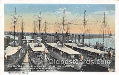 mil050320 - US Torpedo Boats in Harbor War with Mexico Postcard Post Card