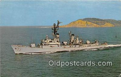 mil050369 - USS Hoel DDG-13 William R Hoel, Naval Officer Postcard Post Card