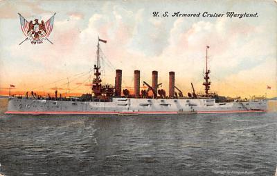 mil051064 - Military Battleship Postcard, Old Vintage Antique Military Ship Post Card