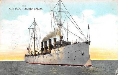 mil051067 - Military Battleship Postcard, Old Vintage Antique Military Ship Post Card