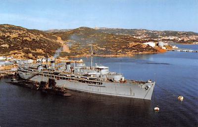 mil051071 - Military Battleship Postcard, Old Vintage Antique Military Ship Post Card