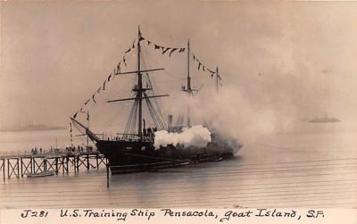 mil051075 - Military Battleship Postcard, Old Vintage Antique Military Ship Post Card