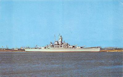 mil051076 - Military Battleship Postcard, Old Vintage Antique Military Ship Post Card