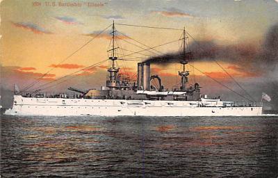 mil051078 - Military Battleship Postcard, Old Vintage Antique Military Ship Post Card