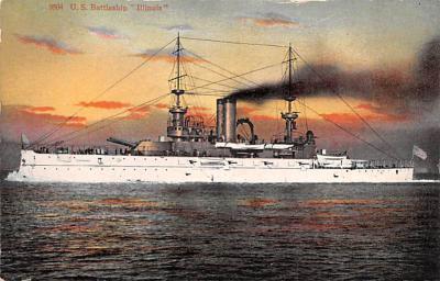 mil051081 - Military Battleship Postcard, Old Vintage Antique Military Ship Post Card