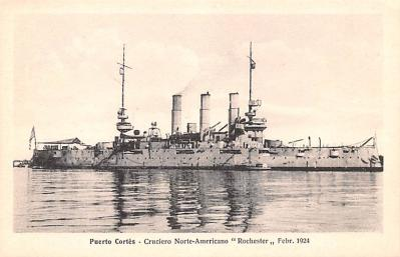 mil051084 - Military Battleship Postcard, Old Vintage Antique Military Ship Post Card