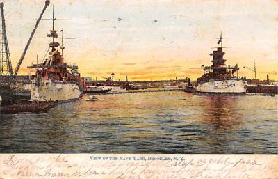 mil051086 - Military Battleship Postcard, Old Vintage Antique Military Ship Post Card