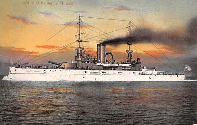 mil051087 - Military Battleship Postcard, Old Vintage Antique Military Ship Post Card
