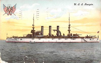 mil051088 - Military Battleship Postcard, Old Vintage Antique Military Ship Post Card