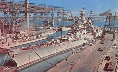 mil051106 - Military Battleship Postcard, Old Vintage Antique Military Ship Post Card