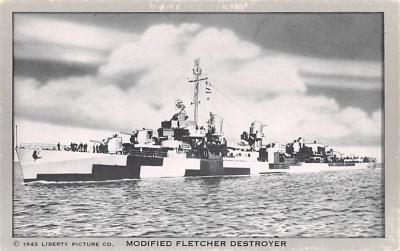 mil051115 - Military Battleship Postcard, Old Vintage Antique Military Ship Post Card