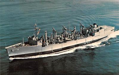 mil051117 - Military Battleship Postcard, Old Vintage Antique Military Ship Post Card