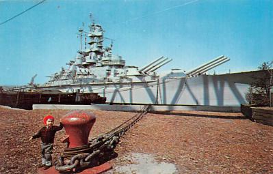 mil051123 - Military Battleship Postcard, Old Vintage Antique Military Ship Post Card
