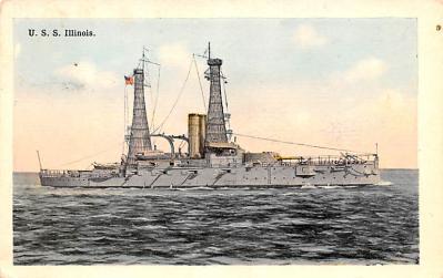 mil051124 - Military Battleship Postcard, Old Vintage Antique Military Ship Post Card