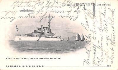 mil051128 - Military Battleship Postcard, Old Vintage Antique Military Ship Post Card