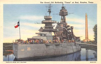 mil051134 - Military Battleship Postcard, Old Vintage Antique Military Ship Post Card