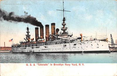 mil051147 - Military Battleship Postcard, Old Vintage Antique Military Ship Post Card