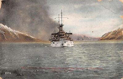 mil051151 - Military Battleship Postcard, Old Vintage Antique Military Ship Post Card