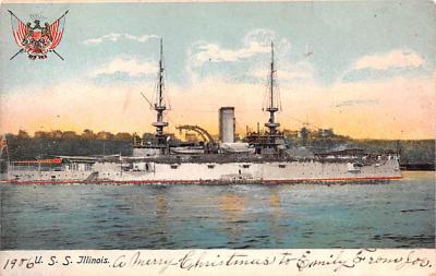 mil051152 - Military Battleship Postcard, Old Vintage Antique Military Ship Post Card