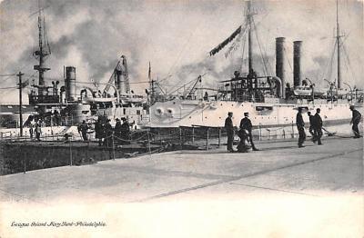 mil051155 - Military Battleship Postcard, Old Vintage Antique Military Ship Post Card