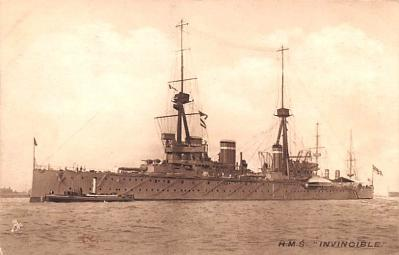 mil051174 - Military Battleship Postcard, Old Vintage Antique Military Ship Post Card