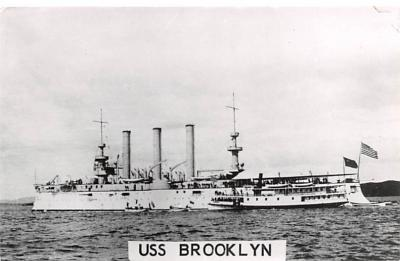 mil051175 - Military Battleship Postcard, Old Vintage Antique Military Ship Post Card