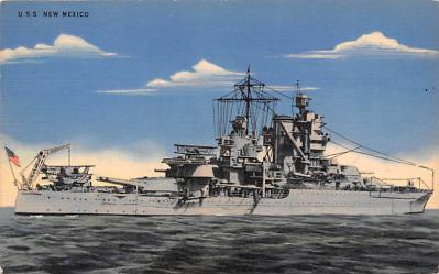 mil051177 - Military Battleship Postcard, Old Vintage Antique Military Ship Post Card