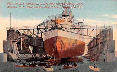 mil051202 - Military Battleship Postcard, Old Vintage Antique Military Ship Post Card