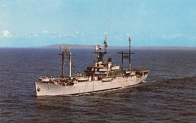 mil051208 - Military Battleship Postcard, Old Vintage Antique Military Ship Post Card