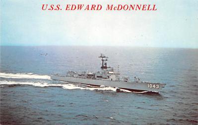 mil051213 - Military Battleship Postcard, Old Vintage Antique Military Ship Post Card