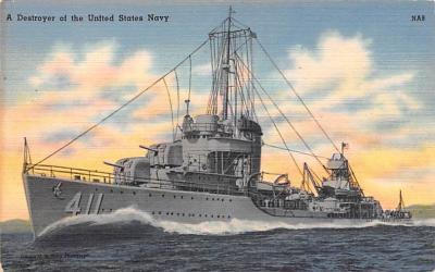 mil051218 - Military Battleship Postcard, Old Vintage Antique Military Ship Post Card