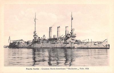 mil051226 - Military Battleship Postcard, Old Vintage Antique Military Ship Post Card