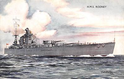 mil051243 - Military Battleship Postcard, Old Vintage Antique Military Ship Post Card