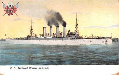 mil051249 - Military Battleship Postcard, Old Vintage Antique Military Ship Post Card