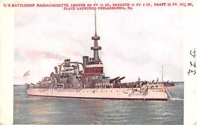 mil051252 - Military Battleship Postcard, Old Vintage Antique Military Ship Post Card