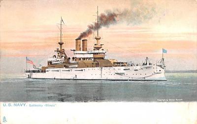 mil051254 - Military Battleship Postcard, Old Vintage Antique Military Ship Post Card