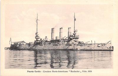 mil051256 - Military Battleship Postcard, Old Vintage Antique Military Ship Post Card