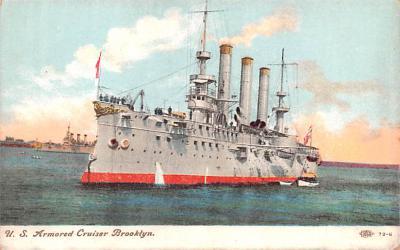 mil051258 - Military Battleship Postcard, Old Vintage Antique Military Ship Post Card