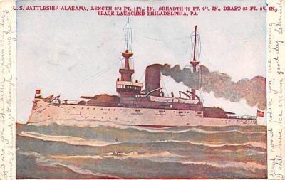 mil051262 - Military Battleship Postcard, Old Vintage Antique Military Ship Post Card