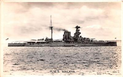 mil051265 - Military Battleship Postcard, Old Vintage Antique Military Ship Post Card