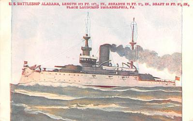 mil051278 - Military Battleship Postcard, Old Vintage Antique Military Ship Post Card