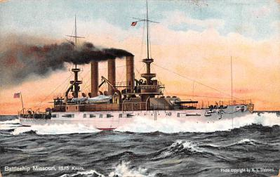 mil051282 - Military Battleship Postcard, Old Vintage Antique Military Ship Post Card