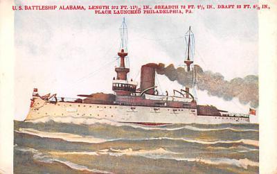 mil051289 - Military Battleship Postcard, Old Vintage Antique Military Ship Post Card