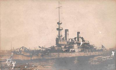 mil051293 - Military Battleship Postcard, Old Vintage Antique Military Ship Post Card